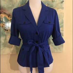 Express Design Studio blue 3/4 sleeve blazer
